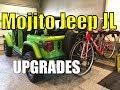 Mojito Jeep JL Bike Rack Setup, Shorty Antenna, and Jeep Floor Mats