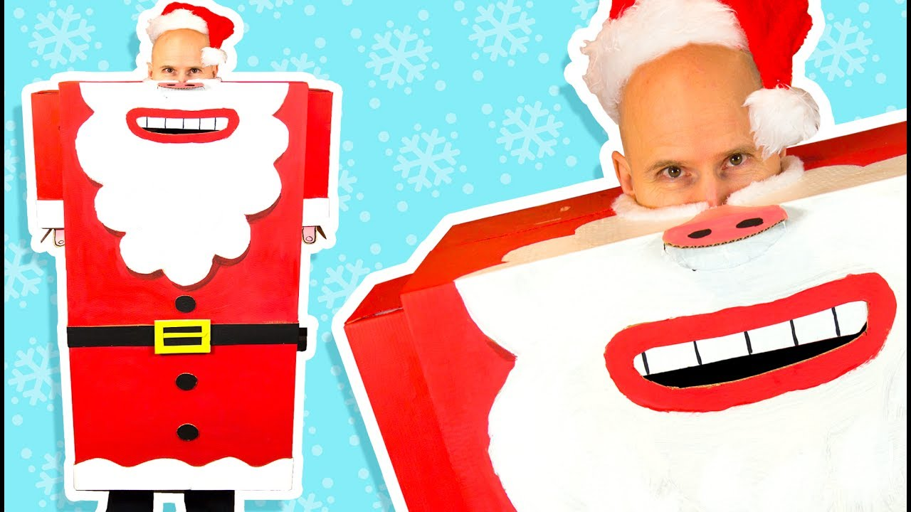 How to make a cardboard santa suit diy christmas costume party how to make a cardboard santa suit diy christmas costume party ideas on box yourself solutioingenieria Images