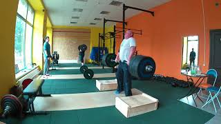 """#Тяжелая атлетика""""Подьем на грудь+тяга с плинтов""""Weightlifting."""
