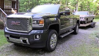 2017 gmc sierra 2500 denali  4x4 duramax   start up  road test   in depth review
