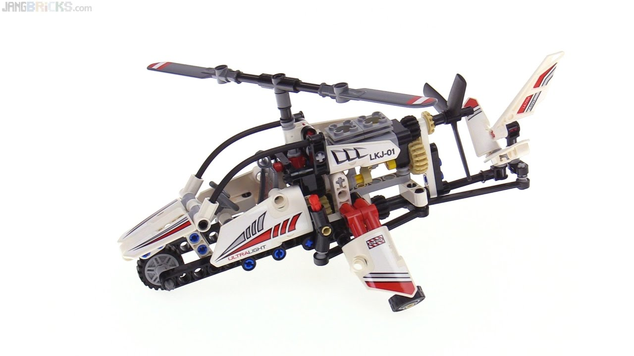 Lego Technic Ultralight Helicopter 2 In 1 Review 42057 Youtube
