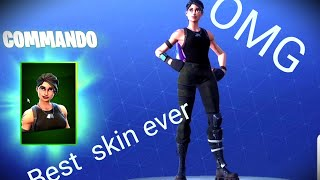 Buying the COMMANDO skin + Crazy gameplay / Fortnite