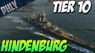 World Of Warships - NEW GERMAN Tier 10 CRUISER - HINDENBURG Gameplay