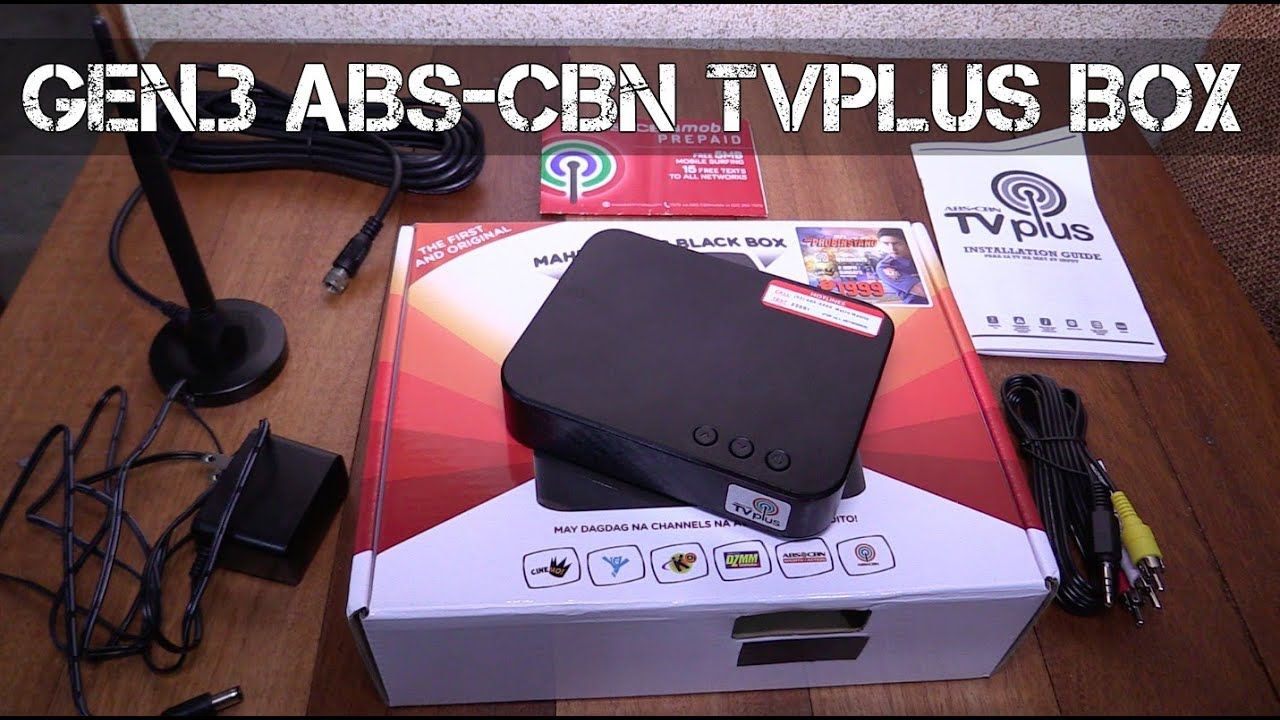 New Abs Cbn Tv Plus Black Box Youtube