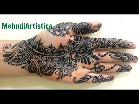 Stylist Arabic Bridal Mehendi Designs For Hands:Modern Heena Patterns DIY By MehndiArtistica Design