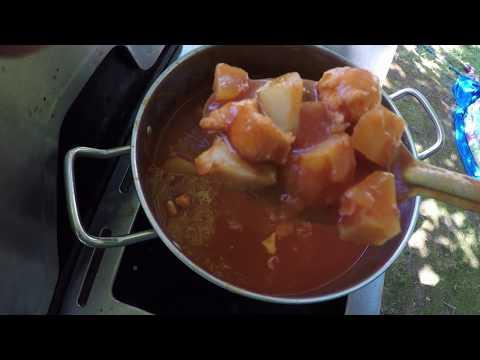 Cooking Catfish Stew.