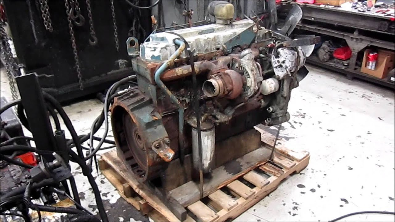 1995 International Dt466 Engine Running Youtube