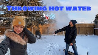 THROWING HOT WATER IΝ COLD AIR. CANADIAN WINTER. || Pearl ❤️