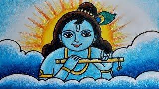 How to Draw God Shri Krishna Easy Drawing /krishna janmashtami/कैसे भगवान कृष्ण जी का चित्र बनाये