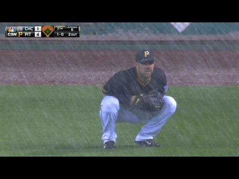 Snow can't stop baseball in Pittsburgh, Detroit