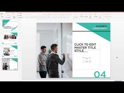How to create a slide template in powerpoint 2020