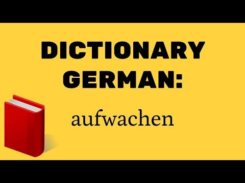 Wörterbuch Deutsch: aufwachen ⭐⭐⭐⭐⭐  Dictionary German: wake up