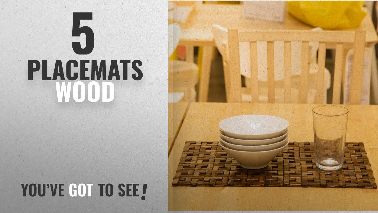 Best Placemats Wood 2018 Bamboo Place Mats Dining Mat Decoration For Table Heat Insulation
