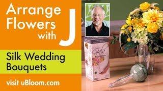How to Make a Silk Flower Wedding Bouquet!