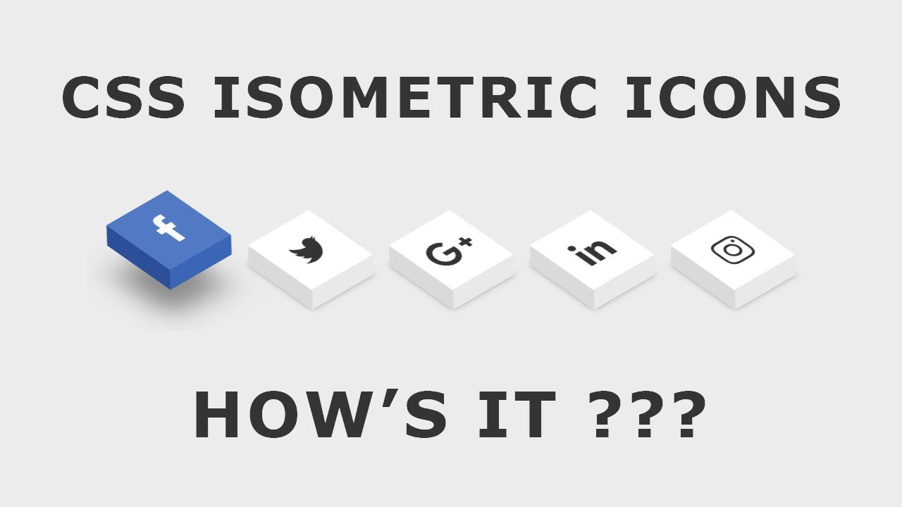 Isometric Social Media Icons - CSS3 Cool Hover Effects