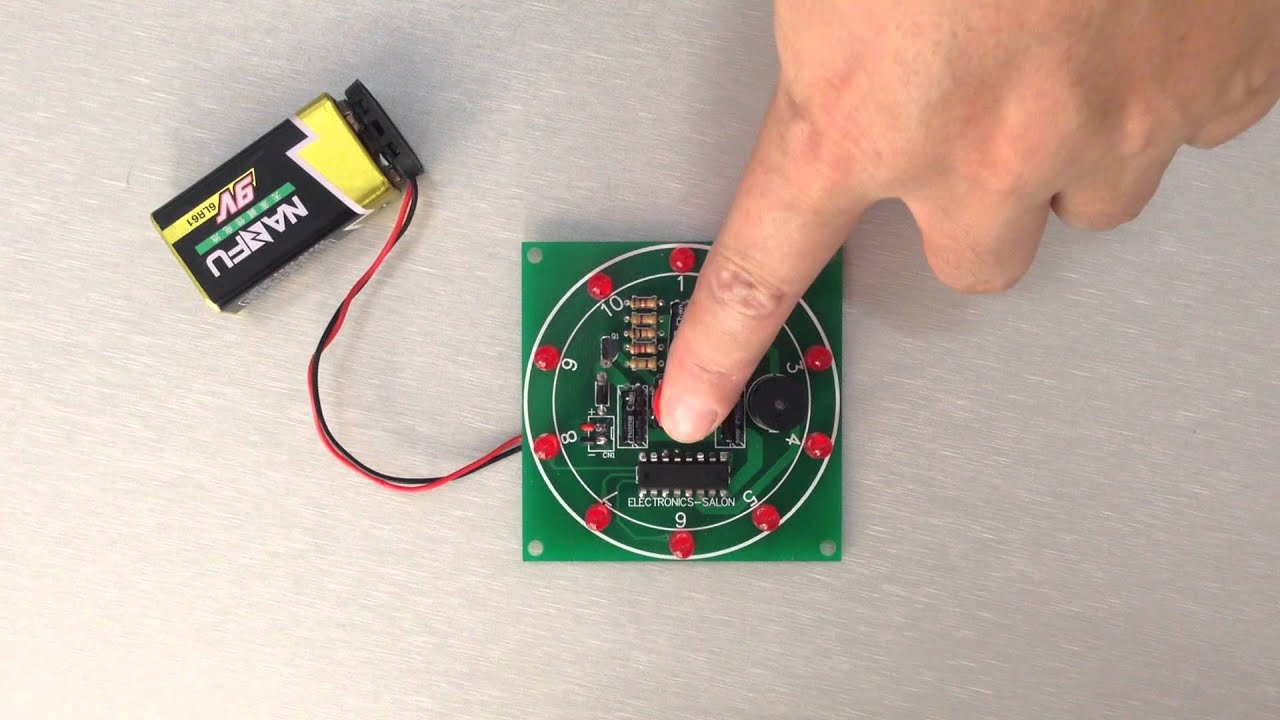 555 4017 Buzzer Electronic Lucky Rotary Board By Lily Jiang Two Way 12 Led Running Lights Using Cd4017 And Ne555