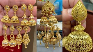 Gold jhumka design for wedding with weight and price //latest gold jhumka design no:-3