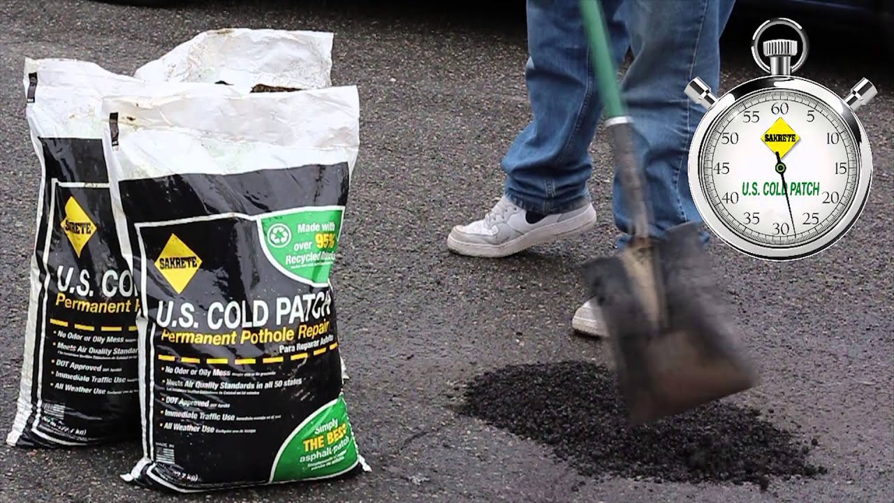 U S Cold Patch 60 Second Pothole Repair