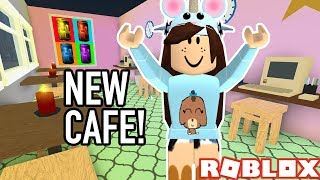 BUILDING MY NEW CAFE IN THE HOTEL! ROBLOX WELCOME TO BLOXBURG