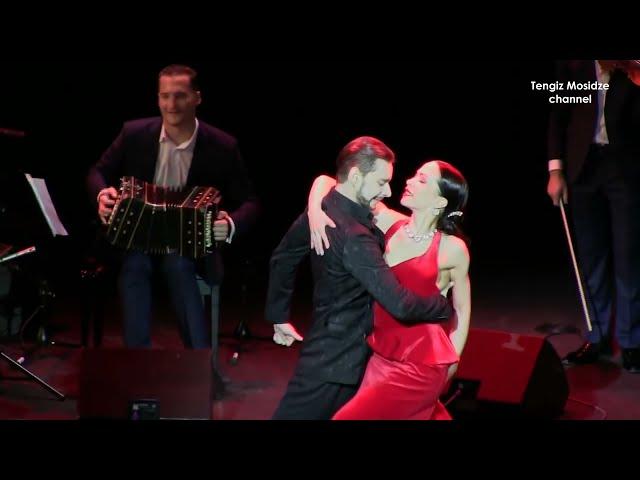 Rusos en baile de tango. Olga Nikola, Dmitriy Kuznetsov, Solo Tango Orquesta, Танго