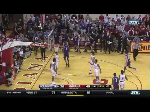 Northwestern at Indiana - Men's Basketball Highlights