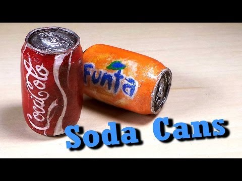 Polymer Clay Soda Can Tutorial - Charm/Miniature