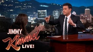 Keira Knightley Gets Baby Advice from Jimmy Kimmel