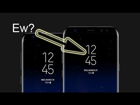 Samsung Galaxy S8 Change the Always On Display Clock