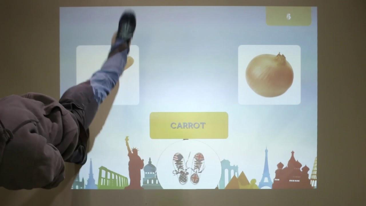 Interactive Floor Magic Carpet GCC ENGLISH FOR FUN - YouTube