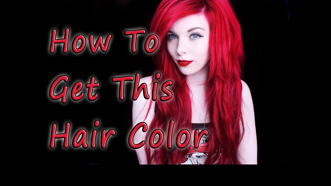 Haare rot tonen mit directions