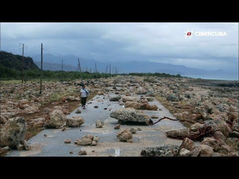 Carretera Guantánamo-Baracoa (Cuba) devastada por Huracán Matthew