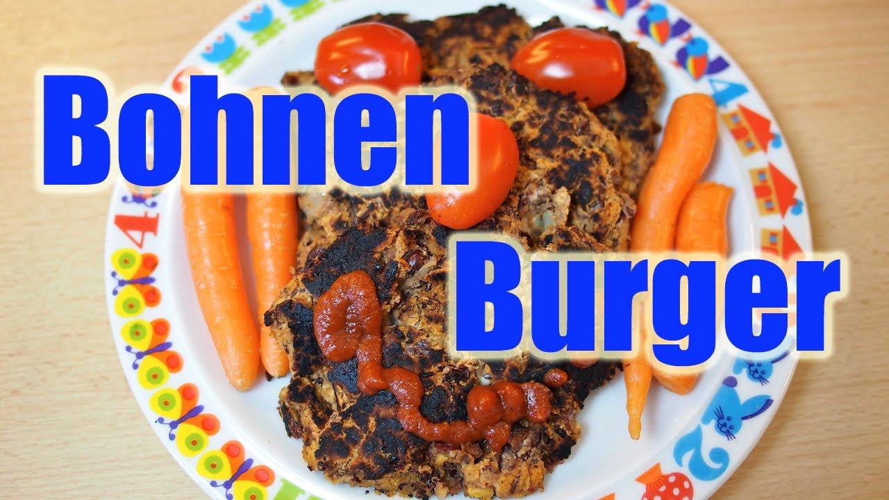 Vegane Frikadellen - Bohnen Burger für Kinder [VEGAN]