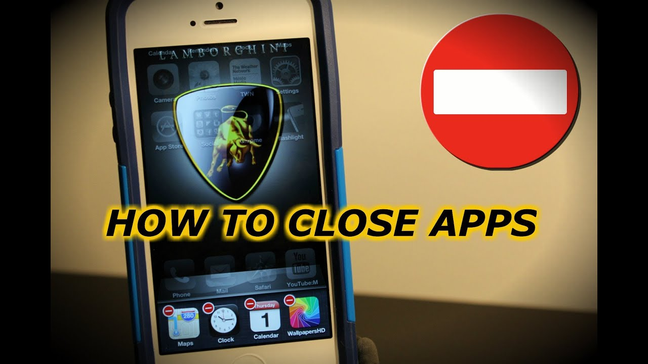 closing apps on iphone how to apps iphone 5 4s 4 3gs ios 6 and above 1473