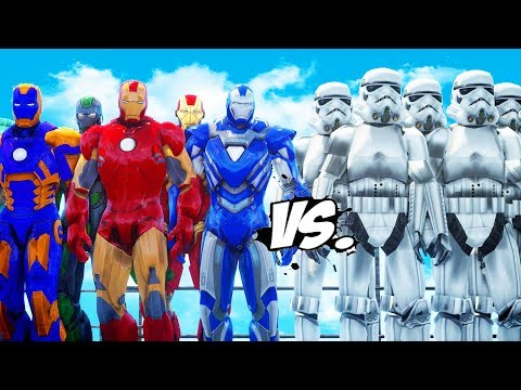 IRON MAN ARMY VS STORMTROOPERS ARMY - EPIC BATTLE