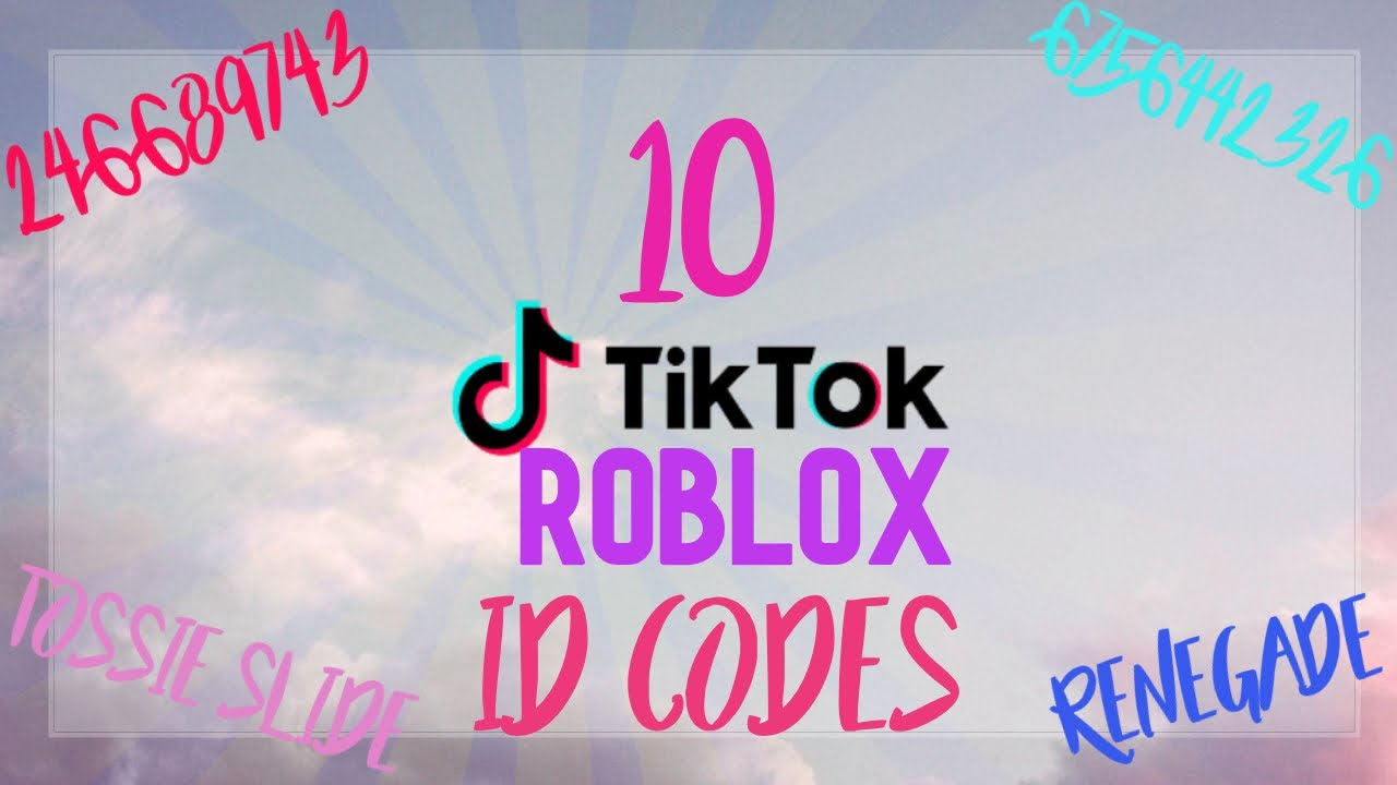 top 10 tik tok songs and their roblox id's - YouTube   Tiktok Songs 2021 Roblox Id