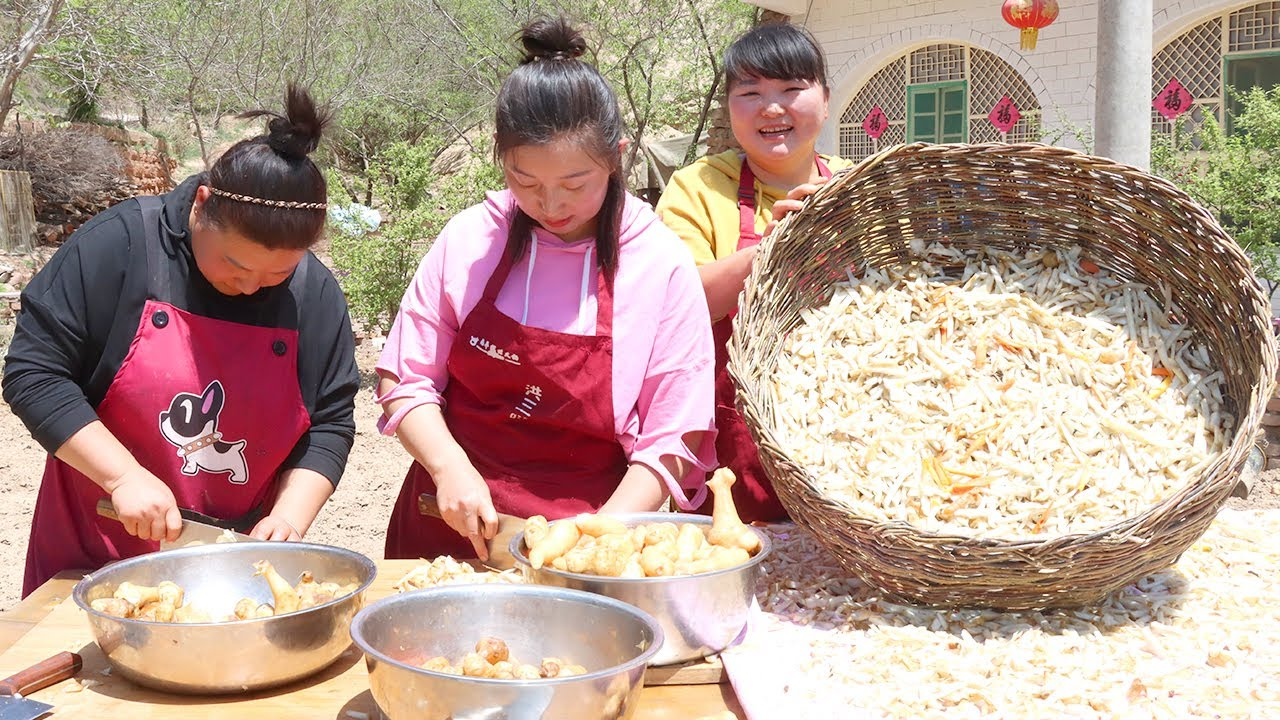 【陕北霞姐】吃不完的腌洋姜不要扔,切碎再晾干,加上辣椒面拌一拌,开胃又下饭!