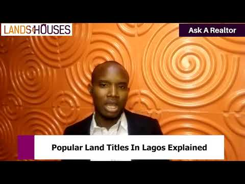 Popular land titles in lagos explained  Ep 19