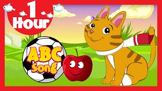ABC Song (One Hour) In English | Popular Rhyme Collection In English For Kids