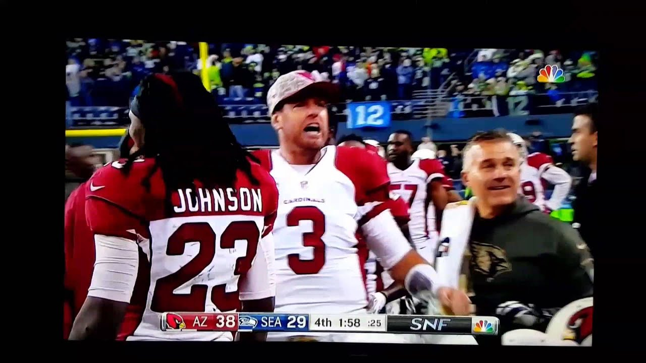 Carson Palmer fist pump and pelvic thrust