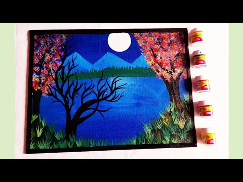 #ACRYLIC PAINTING TUTORIAL LANDSCAPE//STEP BY STEP