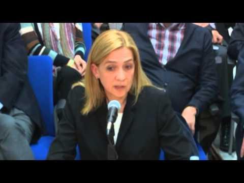 Declaración de la infanta Cristina en el juicio por el Caso Nóos