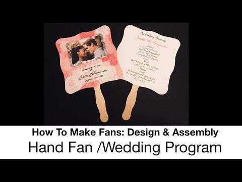 Wedding Program: Paper Fan