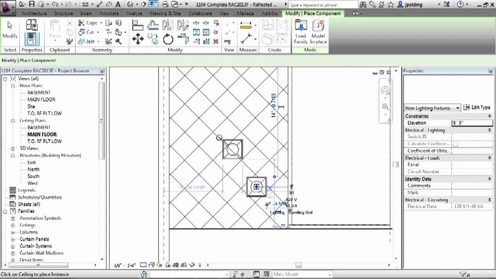 Revit Architecture 2013 Tutorial Lighting Fixtures Youtube