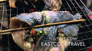 Fish Grills With Chili Herb Laos Street Food