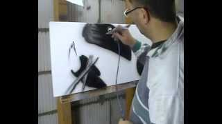 Atelier Meijer - Funny Animals airbrush - the Toucan bird