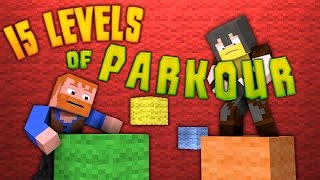 Minecraft ★ 15 LEVELS OF PARKOUR - Dumb & Dumber