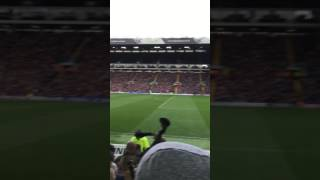 Newcastle fans after Dwight Gayle's second goal at Leeds 2016