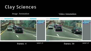 bounding box annotations, side by side comparison