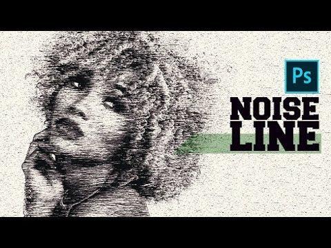 Line Art Effect Photoshop Tutorial : Photoshop tutorial noise line art effect youtube