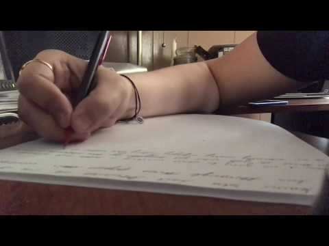 ASMR Writing in Cursive | Papers Rustling, Pencil Sounds, Erasing